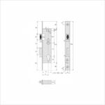 Dimensions Serrure Stremler série 2460