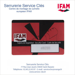 carte codée IFAM